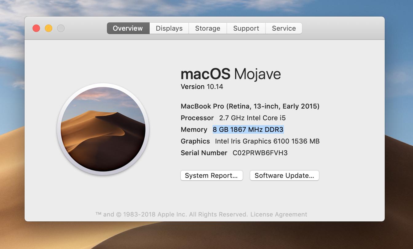 find macbook air serial number